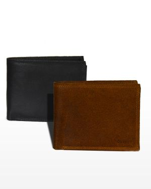 Lederen portemonnee heren