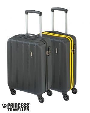 Cabin trolley zwart en zwart/geel