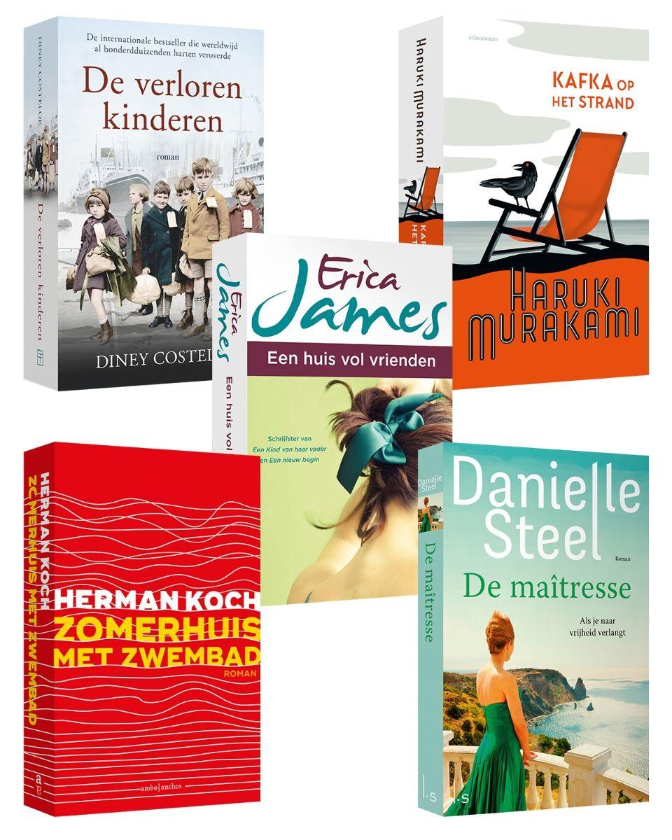Boekenpakket van 5 romans