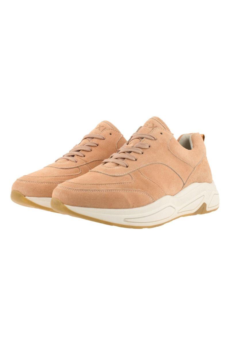 Sneaker dames zachtroze suède
